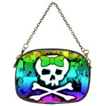 Rainbow Skull Chain Purse (One Side)