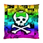 Rainbow Skull Cushion Case (Two Sides)