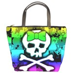 Rainbow Skull Bucket Bag