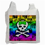 Rainbow Skull Recycle Bag (One Side)