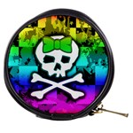 Rainbow Skull Mini Makeup Bag