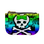 Rainbow Skull Mini Coin Purse