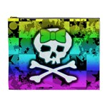 Rainbow Skull Cosmetic Bag (XL)