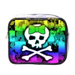 Rainbow Skull Mini Toiletries Bag (One Side)