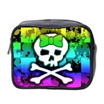 Rainbow Skull Mini Toiletries Bag (Two Sides)
