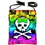 Rainbow Skull Shoulder Sling Bag