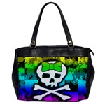Rainbow Skull Oversize Office Handbag (One Side)