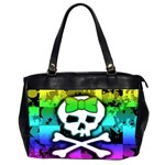 Rainbow Skull Oversize Office Handbag (Two Sides)