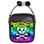 Rainbow Skull Girls Sling Bag