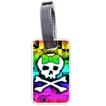 Rainbow Skull Luggage Tag (one side)