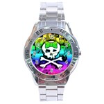 Rainbow Skull Stainless Steel Analogue Men's Watch