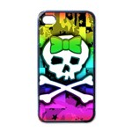 Rainbow Skull Apple iPhone 4 Case (Black)