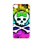 Rainbow Skull Apple iPhone 4 Case (White)