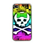Rainbow Skull Apple iPhone 4 Case (Clear)