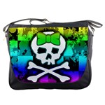 Rainbow Skull Messenger Bag