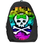 Rainbow Skull Backpack Bag