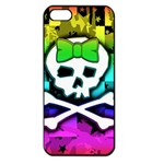 Rainbow Skull Apple iPhone 5 Seamless Case (Black)