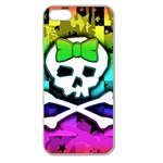 Rainbow Skull Apple Seamless iPhone 5 Case (Clear)