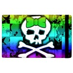 Rainbow Skull Apple iPad 2 Flip Case