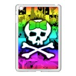 Rainbow Skull Apple iPad Mini Case (White)