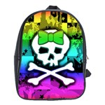Rainbow Skull School Bag (XL)