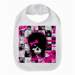 Scene Kid Girl Skull Bib
