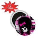 Scene Kid Girl Skull 1.75  Magnet (10 pack)