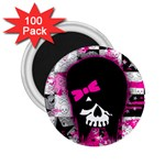 Scene Kid Girl Skull 2.25  Magnet (100 pack)
