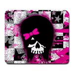 Scene Kid Girl Skull Large Mousepad