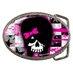 Scene Kid Girl Skull Belt Buckle