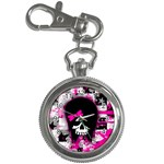 Scene Kid Girl Skull Key Chain Watch