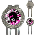 Scene Kid Girl Skull 3-in-1 Golf Divot