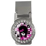 Scene Kid Girl Skull Money Clip (CZ)