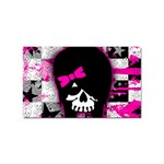 Scene Kid Girl Skull Sticker (Rectangular)