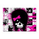 Scene Kid Girl Skull Sticker (A4)