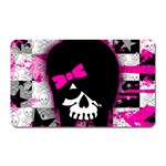 Scene Kid Girl Skull Magnet (Rectangular)