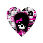Scene Kid Girl Skull Magnet (Heart)