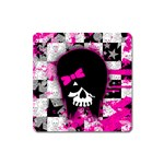 Scene Kid Girl Skull Magnet (Square)