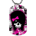 Scene Kid Girl Skull Dog Tag (Two Sides)