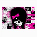 Scene Kid Girl Skull Postcard 4 x 6  (Pkg of 10)