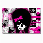 Scene Kid Girl Skull Postcard 5  x 7