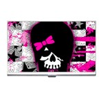 Scene Kid Girl Skull Business Card Holder