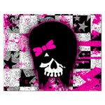 Scene Kid Girl Skull Jigsaw Puzzle (Rectangular)