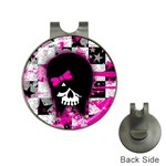 Scene Kid Girl Skull Golf Ball Marker Hat Clip
