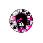 Scene Kid Girl Skull Hat Clip Ball Marker (4 pack)
