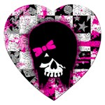 Scene Kid Girl Skull Jigsaw Puzzle (Heart)