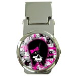 Scene Kid Girl Skull Money Clip Watch