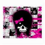 Scene Kid Girl Skull Glasses Cloth (Small, Two Sides)