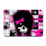 Scene Kid Girl Skull Small Doormat