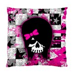 Scene Kid Girl Skull Cushion Case (One Side)